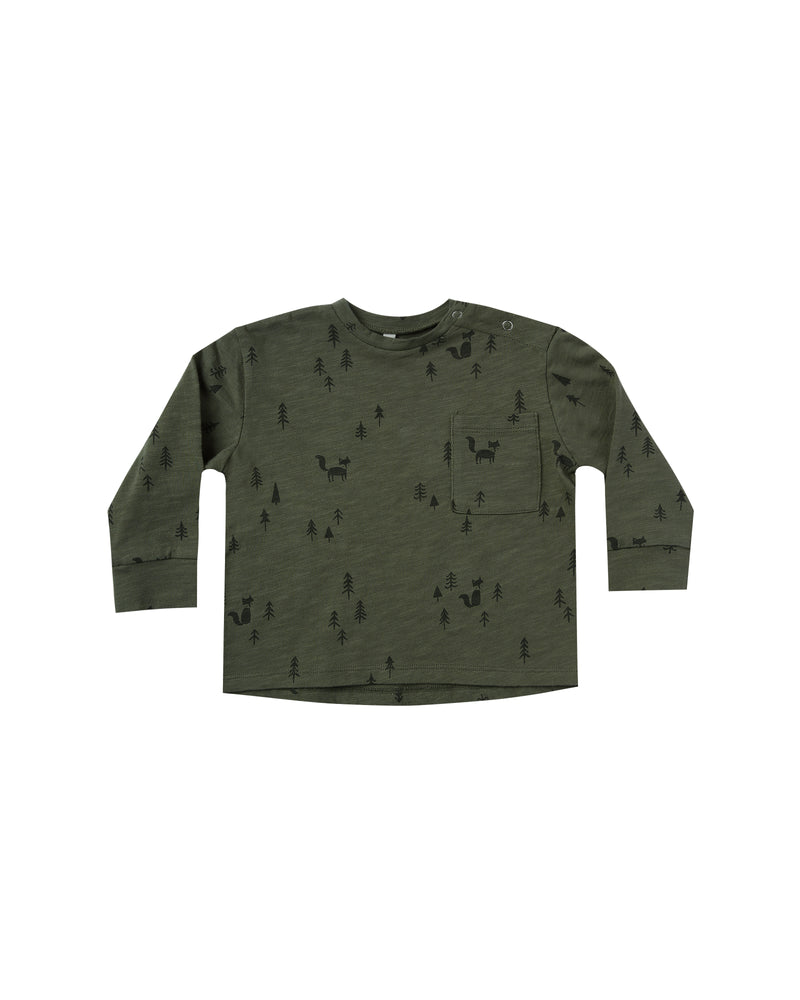 Woods Long Sleeve Skater Tee, Forest