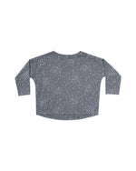Moondust Long Sleeve Tee, Washed Indigo