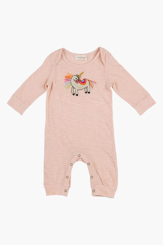 Magical Unicorn Romper, Blush