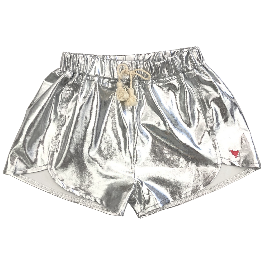 Millie Metallic Short, Silver
