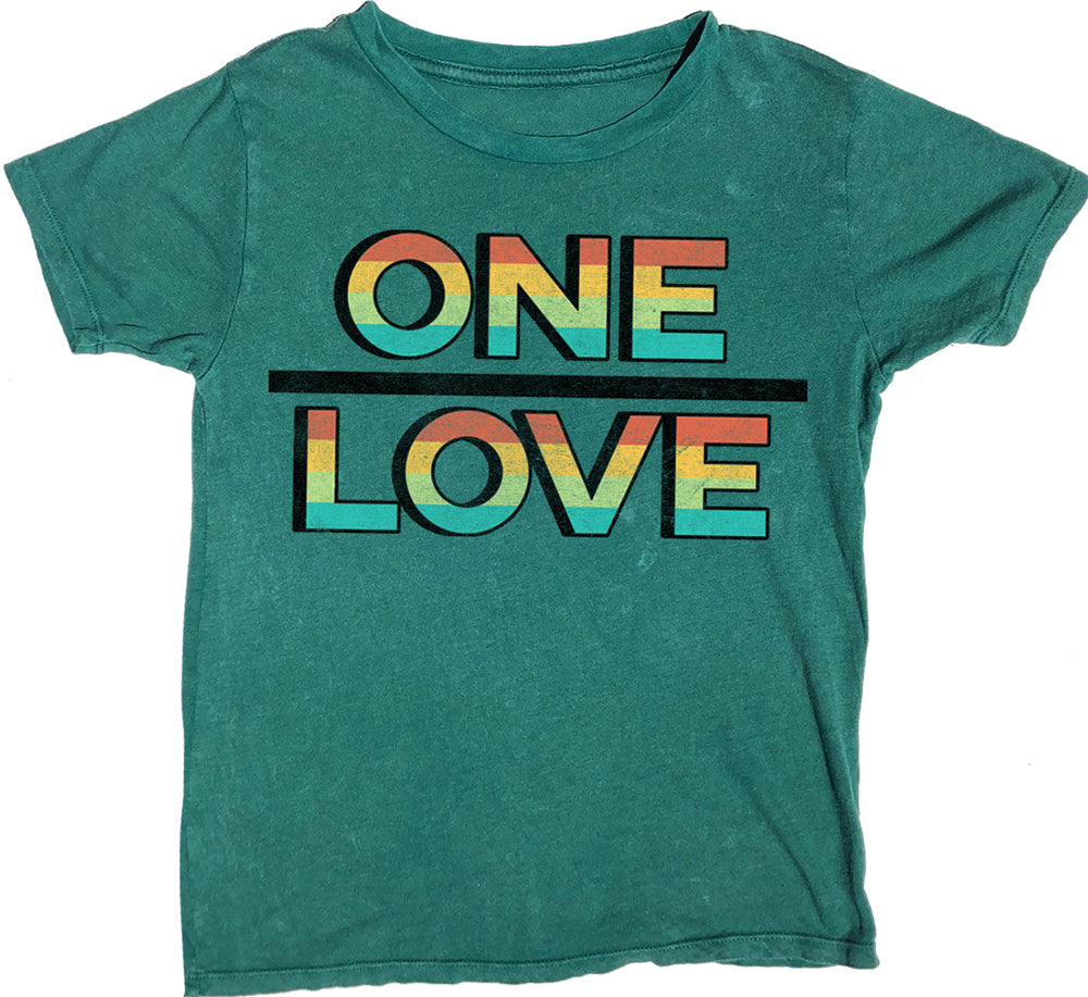 One Love Short Sleeve Tee, Alpine Green