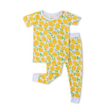 Lemons Two-Piece Short Sleeve Bamboo Viscose Pajama Set