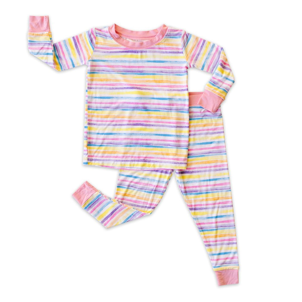 Sunrise Stripe Two-Piece Bamboo Viscose Pajama Set