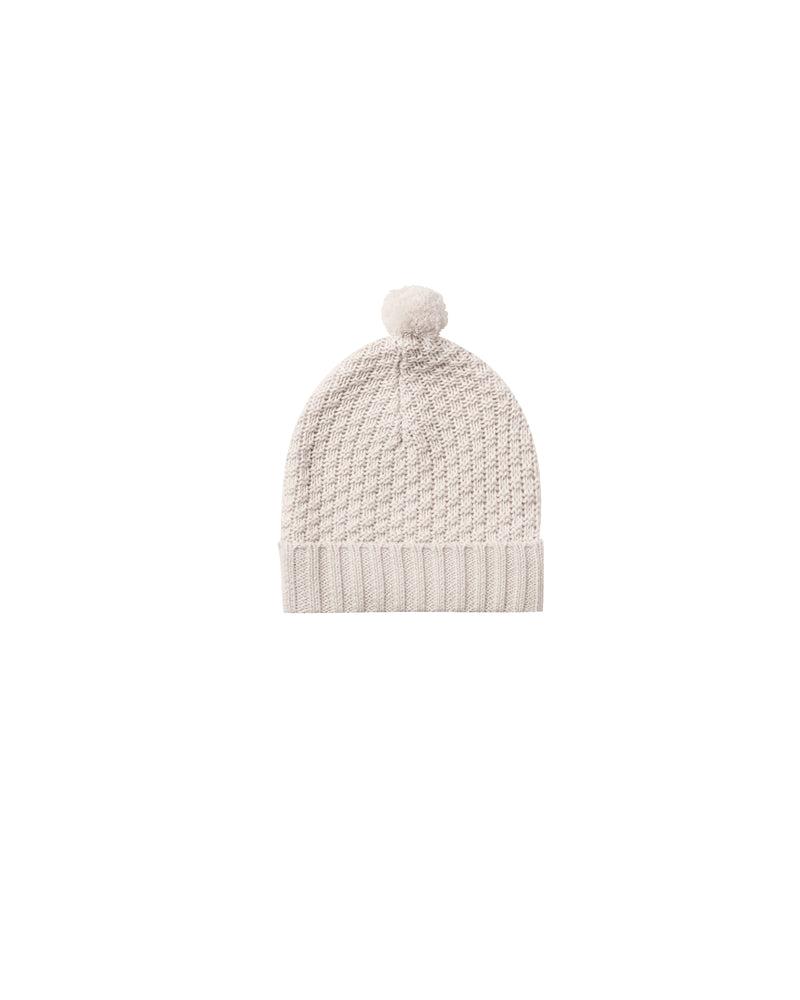 Quincy Mae Knit Pom Pom Beanie, Pebble