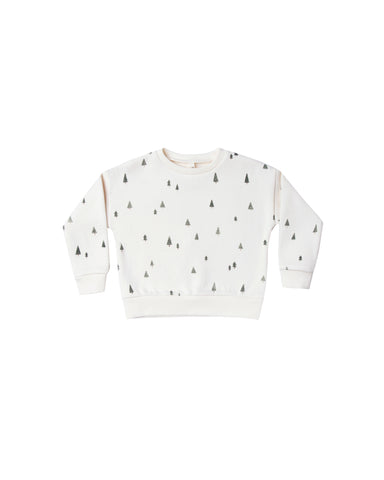 Trees Relaxed Sweatshirt, Ivory