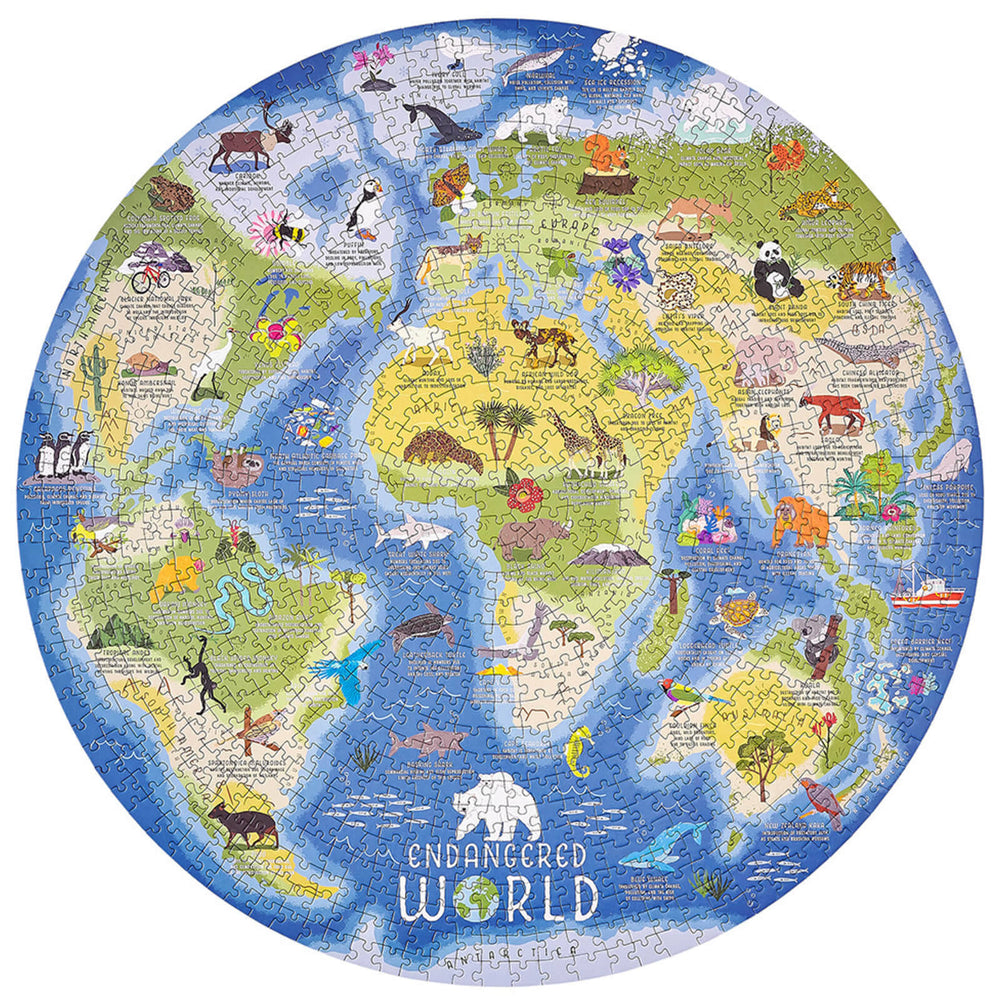 Endangered World Jigsaw Puzzle, 1000 Pieces