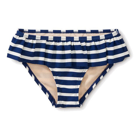 Striped Ruffle Bikini Bottom
