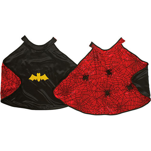 Reversible Spider-Man & Batman Cape & Mask