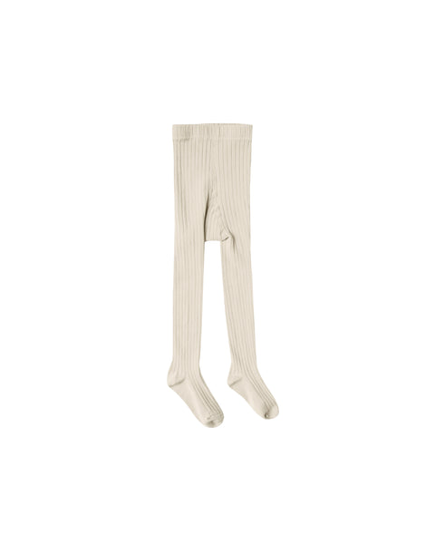 Solid Ribbed Tights, Wheat