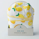 Big Kid Hooded Towel, Lemon