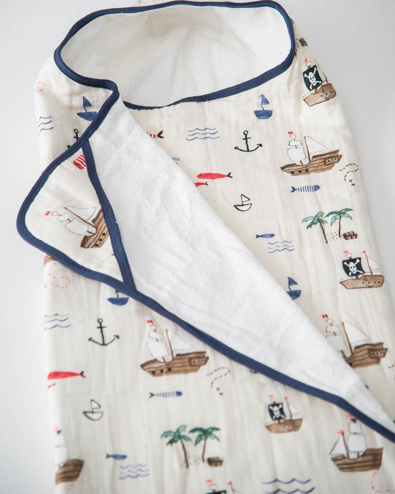 Big Kid Hooded Towel, Treasure Map