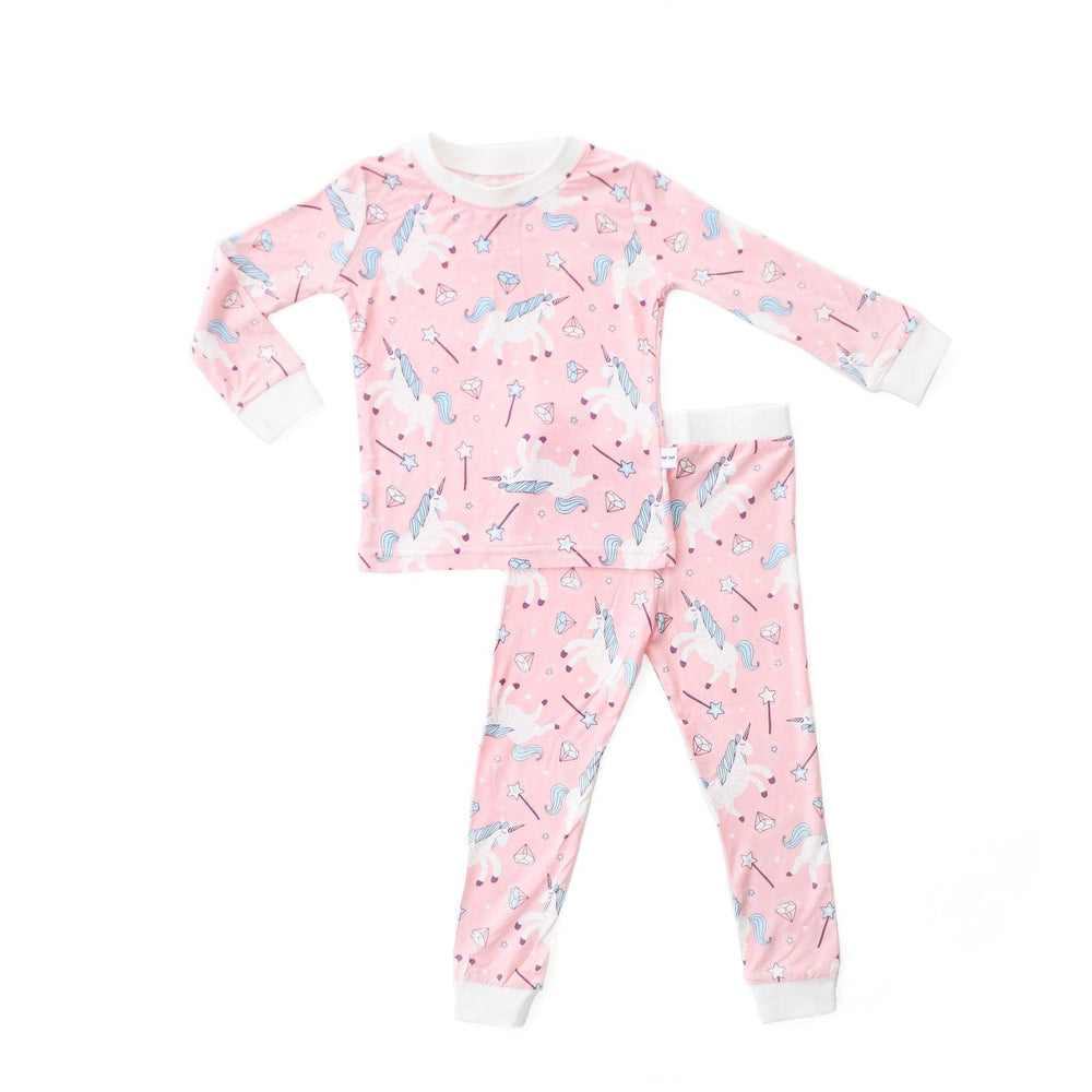 Unicorn Two-Piece Bamboo Viscose Pajama Set