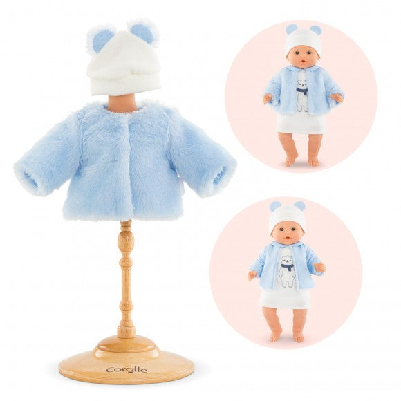 "Polar Winter Coat for 14"" Doll Corolle"