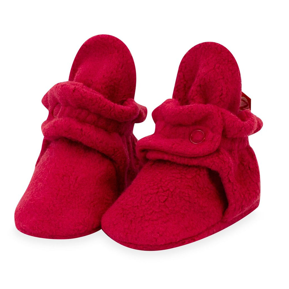 Cozie Fleece Bootie, Cranberry