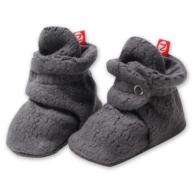 Cozie Fleece Bootie, Gray Zutano