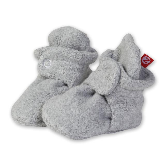 Cozie Fleece Bootie, Heather Grey