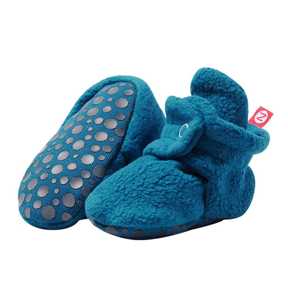 Cozie Fleece Gripper Bootie, Pagoda