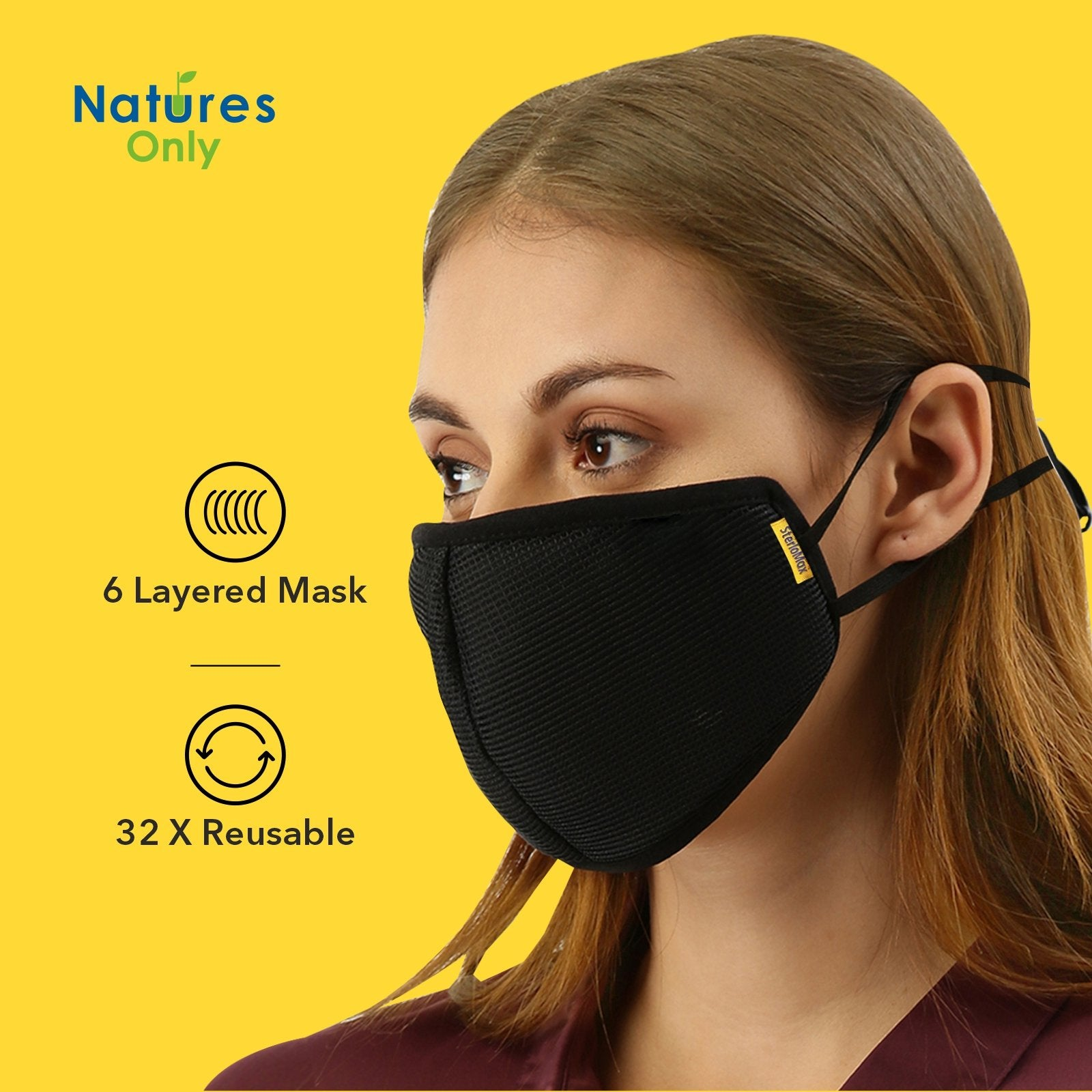 SterloMax x Fresh Filter 6 Layer Anti-Pollution Reusable Outdoor Mesh Masks. Pack of 12