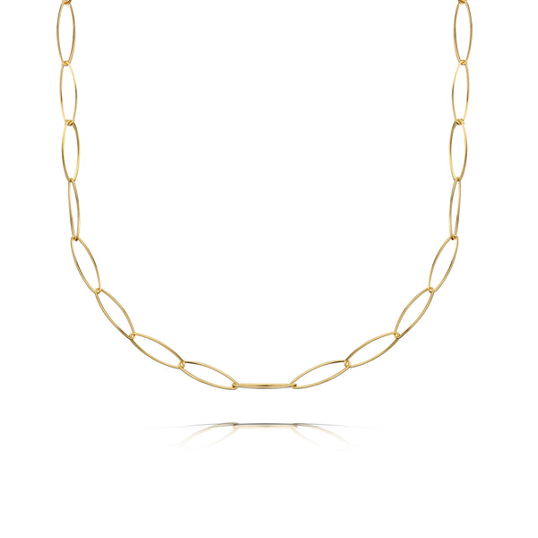 Alice Paper Clip Chain 18ct Gold Vermeil