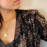 Goldie Star Disc Necklace 18ct Gold Vermeil