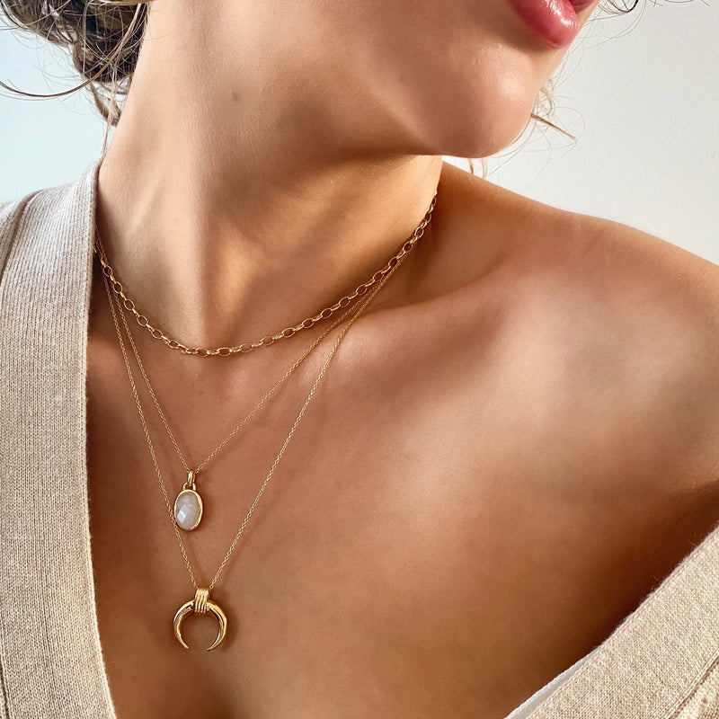 Margo Moonstone Necklace 18ct Gold Vermeil