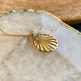 Celeste Sunray Circle Disc 18ct Gold Vermeil