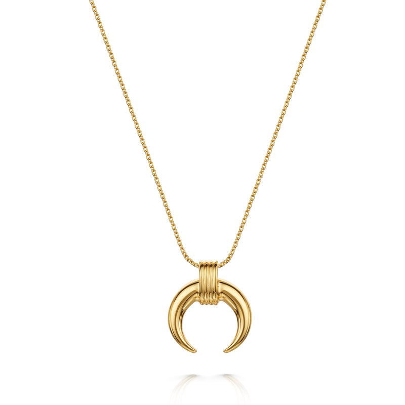 Luna Tusk Necklace 18ct Gold Vermeil