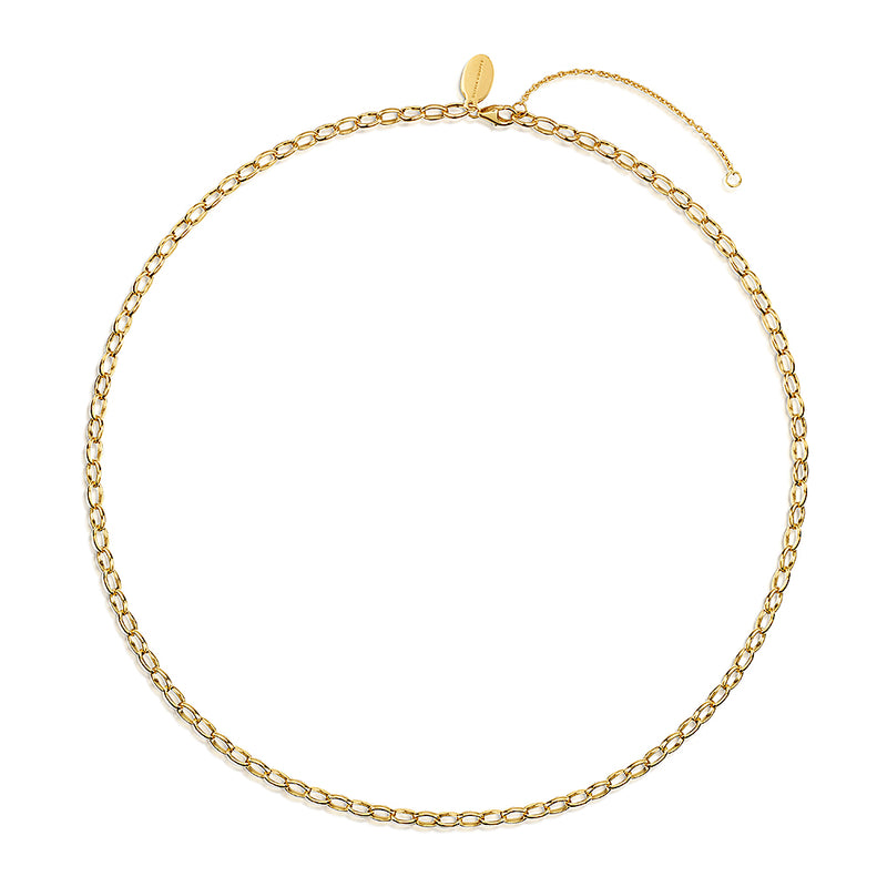 Robyn Rolo Chain Necklace 18ct Gold Vermeil