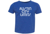 ACL Toddler White on Vint. Blue Shirt