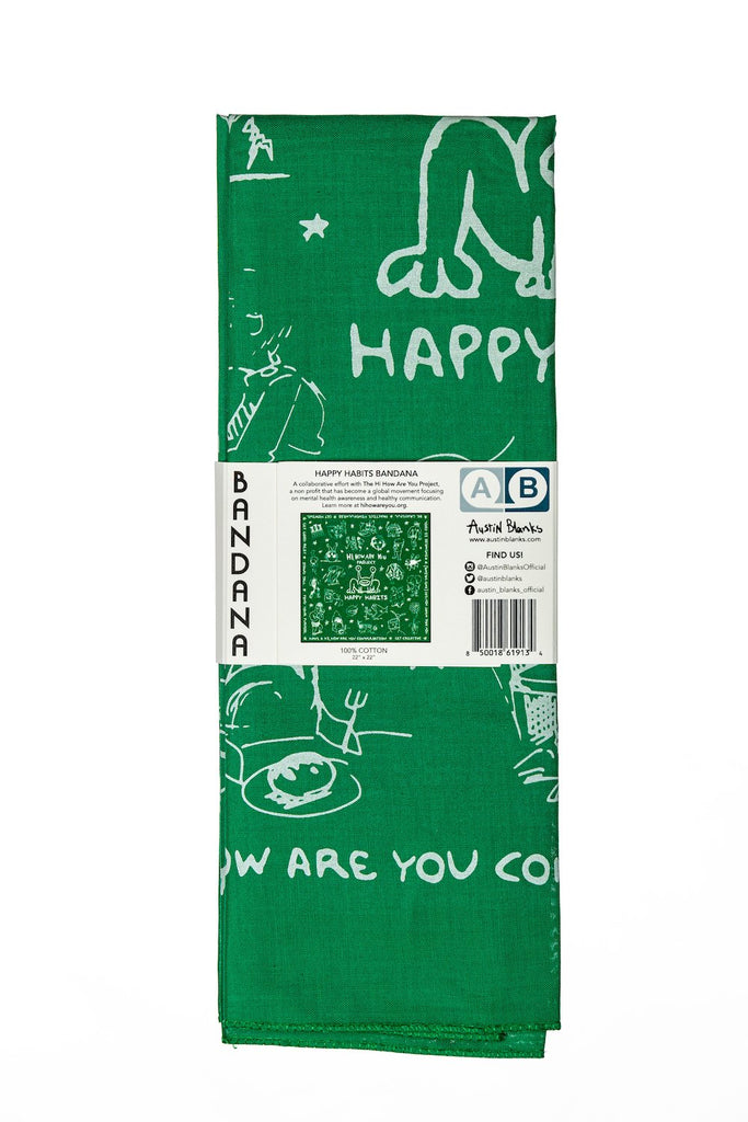 Hi How Are You Happy Habits Bandana