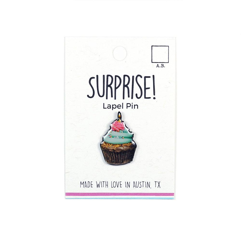 Surprise! Lapel Pin