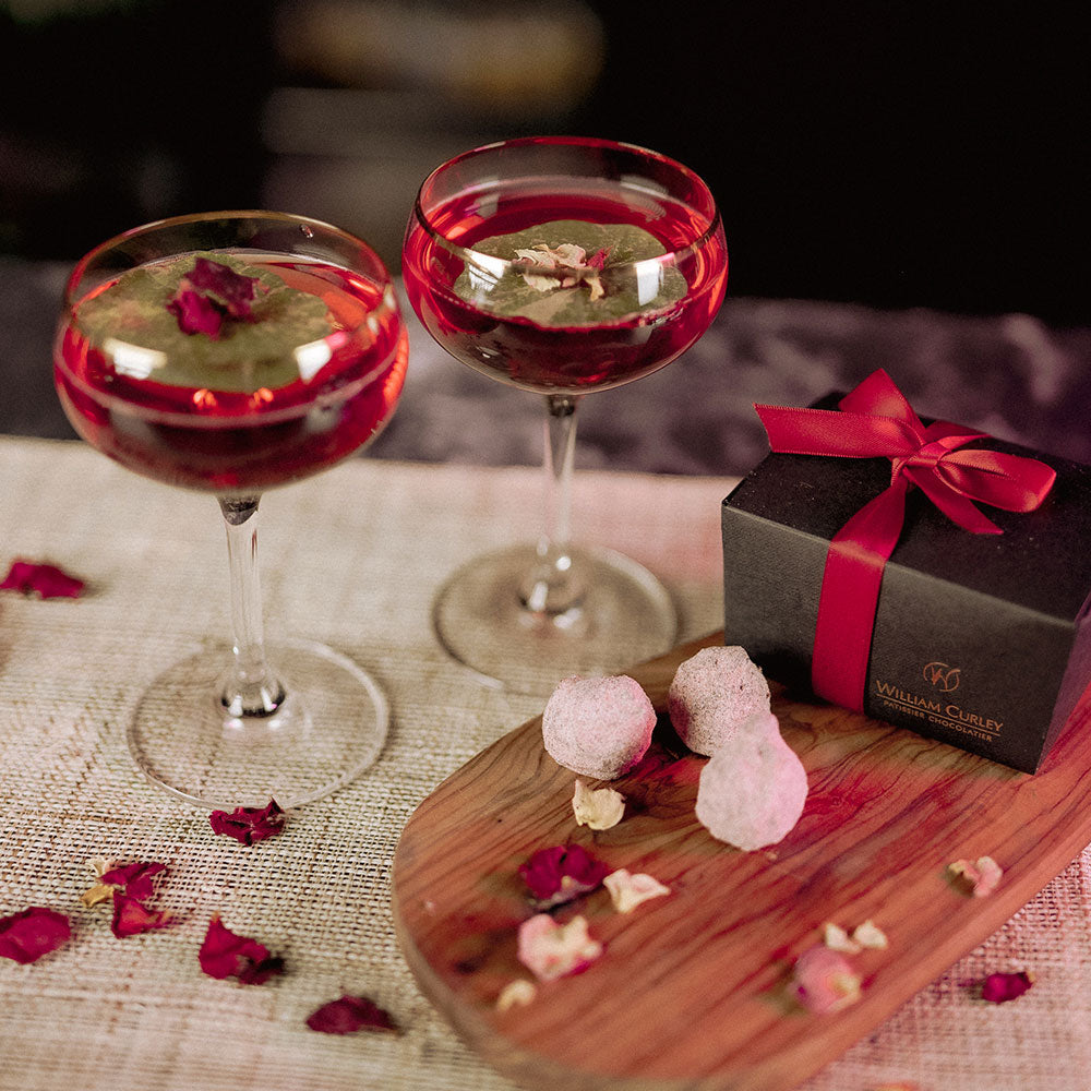 William Curley Mother's Day Chocolates & Mulberry Rose Fizz | 4 serves