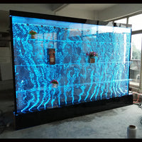 customized LED water bubble wall backdrop wine bar cabinet for home and restaurant