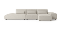 Drake 4 Seater Modular Sofa with Chaise and Ottoman-Lifeisgoodfurniture