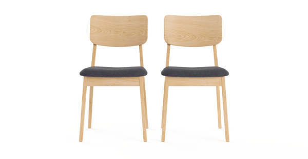 Mokuzai [木] Set of 2 Dining Chairs-Lifeisgoodfurniture