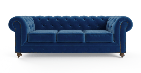 Notting Hill Velvet Chesterfield 3 Seater Sofa-Lifeisgoodfurniture