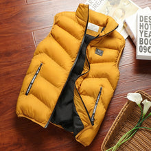 Load image into Gallery viewer, Fashion Mens Jacket Sleeveless Vest Spring Thermal Soft Vests Casual Coats Male Cotton Men's Vest Men Thicken Waistcoat 8XL