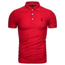 Load image into Gallery viewer, Dropshipping 2019 New Polo Shirt Men Solid Casual Cotton Polo Giraffe Men Slim Fit Embroidery Short Sleeve Men's Polo 10 Colors