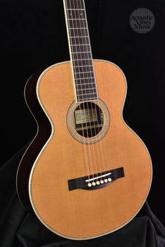 Santa Cruz Custom Firefly- Sitka Spruce Top/ Indian Rosewood, Hide Glue, Adi Braces, cowboy rope purfling!