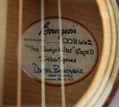 Bourgeois Banjo Killer Sloped D