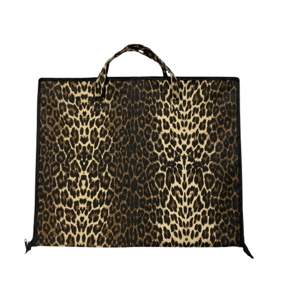 Leopard Cotton Garment Bag with Zipper