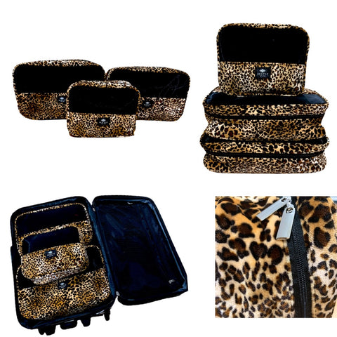 Jetsetter Packing Cube Collection in Leopard Print