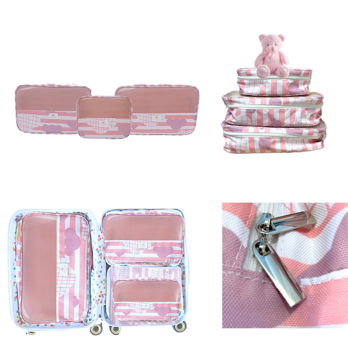 Itty Bitty Pink Baby Packing Cube Collection