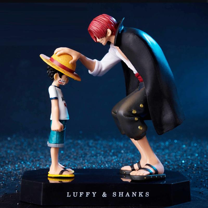 Luffy & Shanks One Piece-Figurine Manga Déco-Figurine Manga Déco