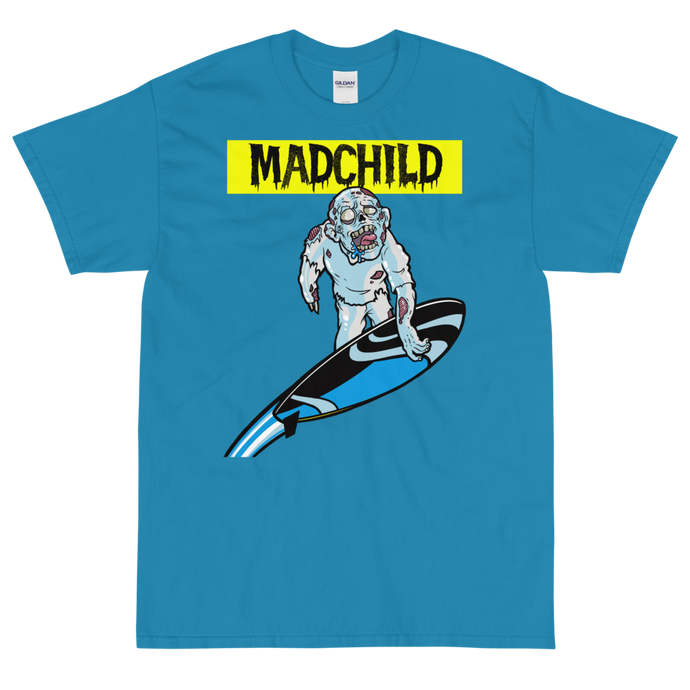 Silver Surfer Short Sleeve T-Shirt (Blue)