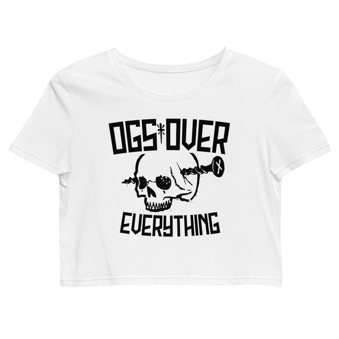 OG's Over Everything Women's Crop Top (White)