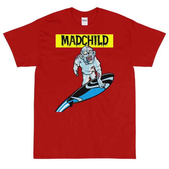 Silver Surfer Short Sleeve T-Shirt (Red)