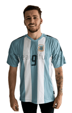 Load image into Gallery viewer, 1998 Argentina home replica retro football shirt
