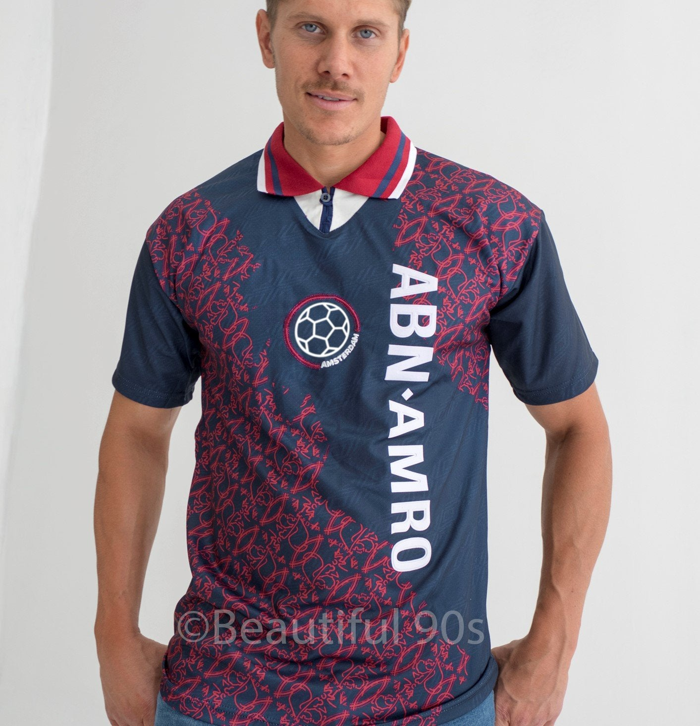 1994-1995 Amsterdam Away ABN AMRO retro replica football shirt