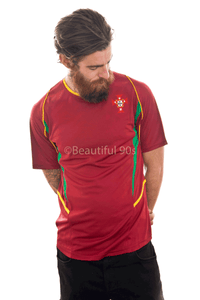 2002 Portugal home replica retro football shirt